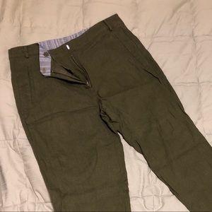 Pants - 🌟2/$7🌟Olive Green Linen Pants